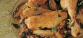 Pollo ai funghi con mirto e Vermentino di Gallura