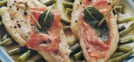 Saltimbocca di sogliole con fagiolini