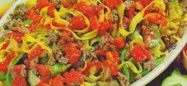 Tagliatelle al ragù di carne e verdure