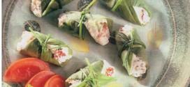 Mini involtini di basilico con robiola