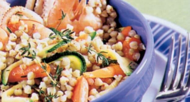 Insalata di grano saraceno mare e orto